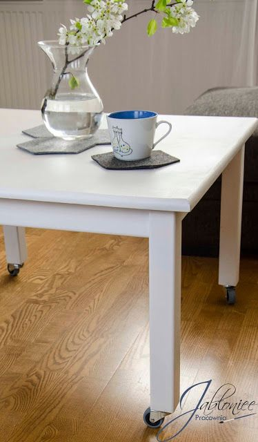 Metamorfoza stolika, czyli nowy mebel tanim kosztem