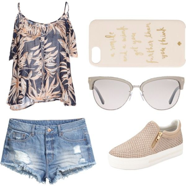 Geen titel #18 by ninavanoss on Polyvore featuring polyvore, mode, style, Vero Moda, H&M, Ash, Tom Ford and Kate Spade