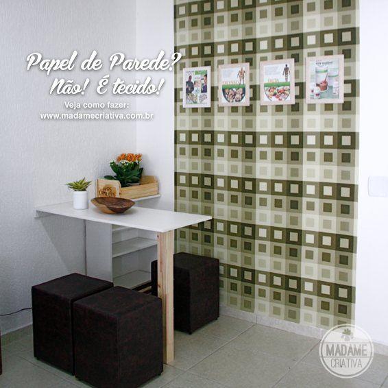 Como revestir uma parede com tecido - Não é papel de parede - Dicas de como fazer - passo a passo com fotos - Tutorial with pictures - How t...