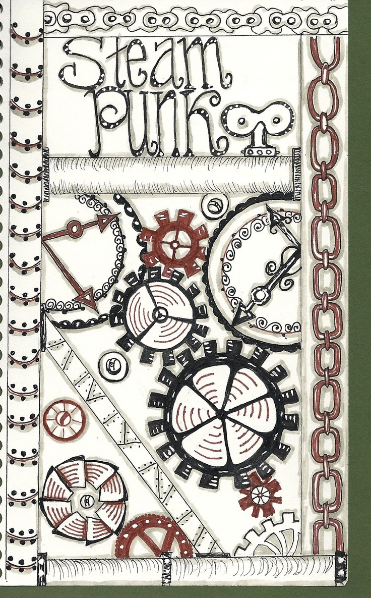 Steampunk style.  I have no idea what steam punk means.  I call it gears and chains!