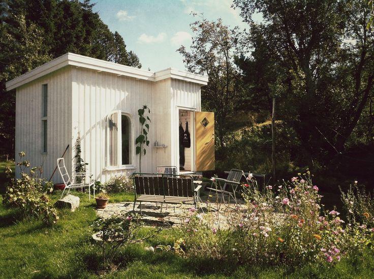 Hand-built house in Tjärnskogen, Bohuslän, Sweden.