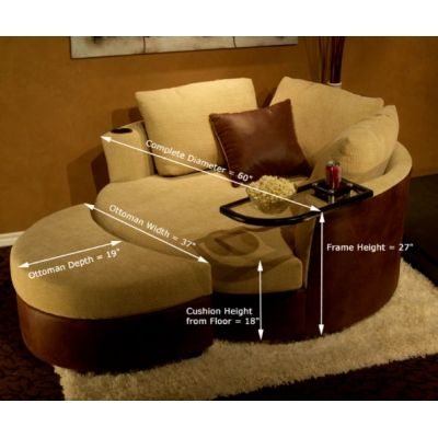 Cuddle Couch....I wonder if this could be turned into a DIY...? I'd love to curl up on one with popcorn, drink, and a good book or movie!! Might need a higher back so you can lean back...