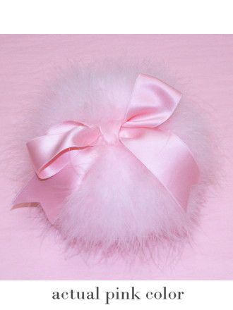 Frou Frou Marabou Powder Puff.  Her favorite color, she loved marabou and she always had powder around with puffs.