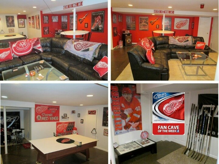 Husker Man Cave Ideas : Best detroit red wings man cave for basement images