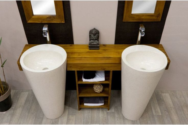 Best 25 meuble salle bain ideas on pinterest meuble for Meuble lavabo double vasque
