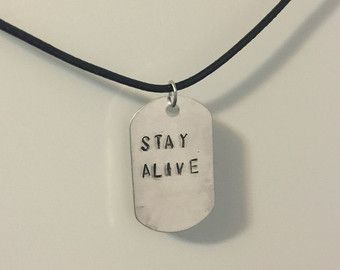Twenty One Pilots mini dog tag choker style necklace