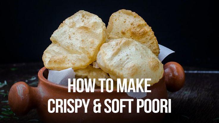 Indian Poori Recipe    How to make Perfect Round, Puffy & Soft Poori / P...