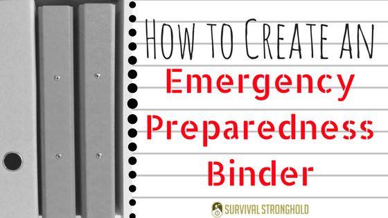 Creating an Emergency Preparedness Binder