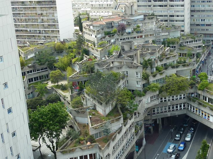 Cubiertas vegetales de principios de los 70. Ya creciditos :) Ivry sur Seine. Arquitecto Jean Renaudie