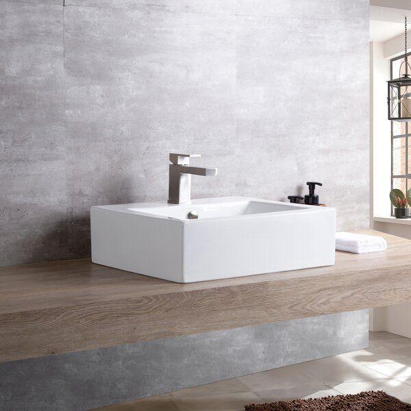 Ceramic Rectangular Vessel Bathroom Sink With Overflow Sink Rectangular Sink Bathroom Vessel Sink Vanity