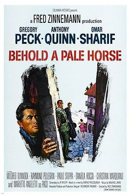 BEHOLD A PALE HORSE movie poster GREGORY PECK suspense courage WAR 24X36