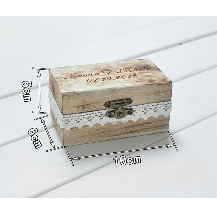 Персональный Подарок Сельский Свадебные Кольца На Предъявителя Коробка Пользовательские Ваши Имена и Даты Гравировки Древесины Обручальное Кольцо Поле купить на AliExpress