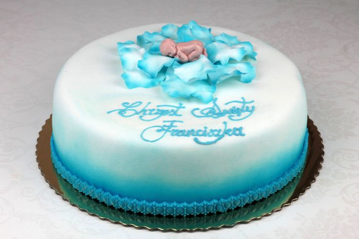 Orchideli - tort na chrzciny dla chłopca, tort chrzcinowy dla chłopca. Boy baptism cake, christening cake decoration for boy.