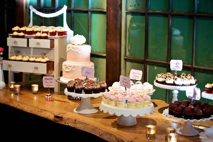 Dessert Table Wedding Different Height Stands Love The