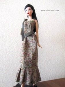 Smock dress for Barbie - lots of other clothes to make follow the link