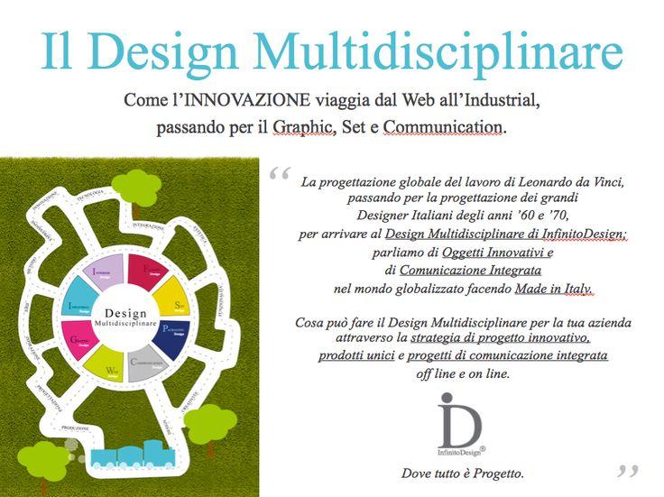 #DesignMultidisciplinare Come l'INNOVAZIONE viaggia dal Web all'Industrial, passando per il Graphic, Set e Communication.