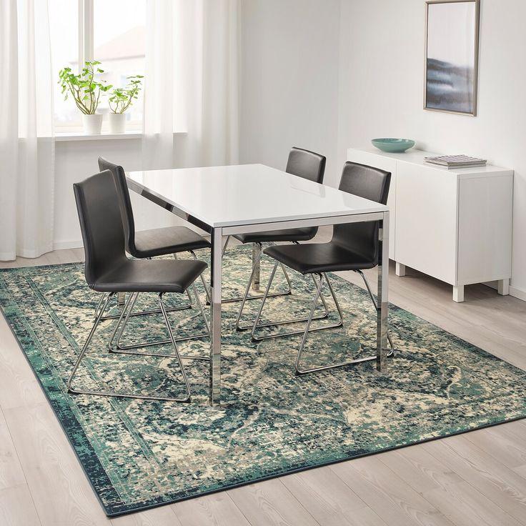 "VONSBÄK Rug, low pile, green, Length 9 ' 10"" IKEA in"