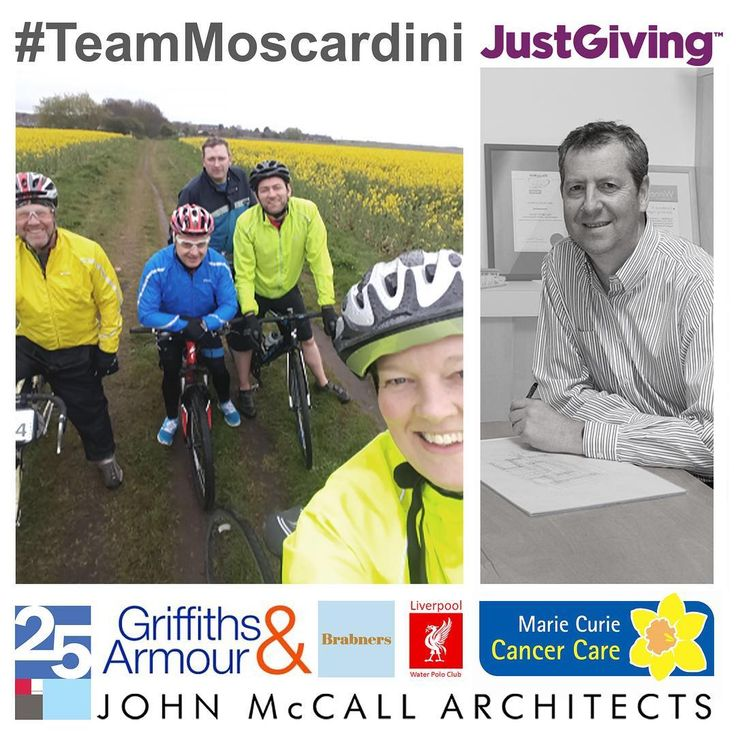 #TeamMoscardini charity cycle ride for Marie Curie Cancer Care