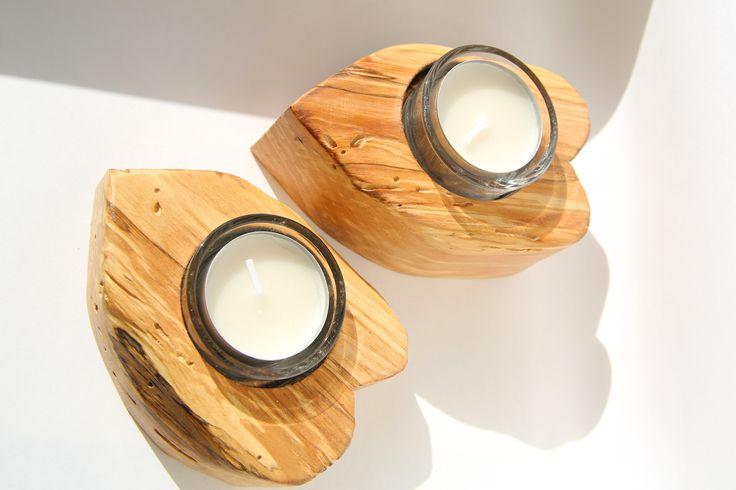 Heart-shaped tealight holders.