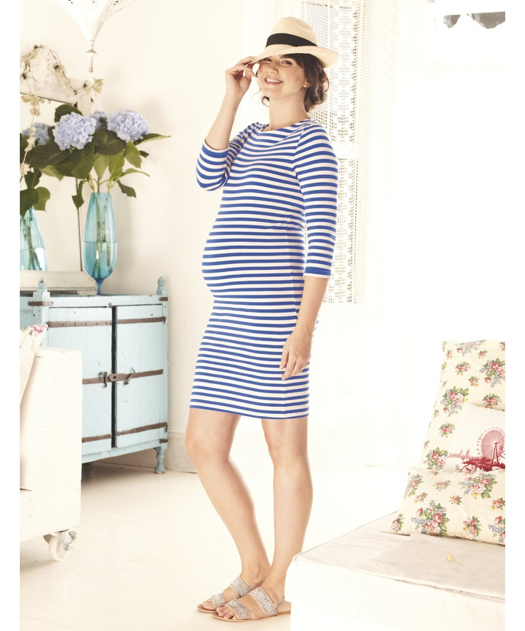 Blooming Marvellous Stripe Maternity Dress - maternity dresses - Mothercare