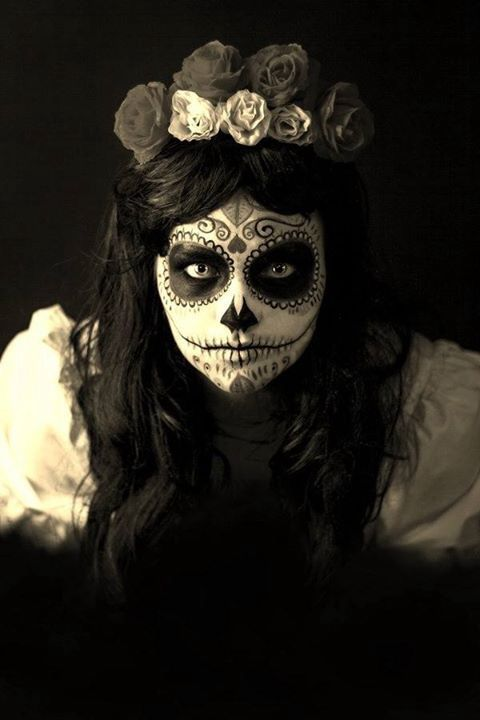 Awesome day of the dead makeup                                                                                                                                                                                 More