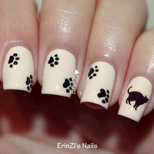 Nail Ideas Cats ~ the best inspiration for design and color of the nails