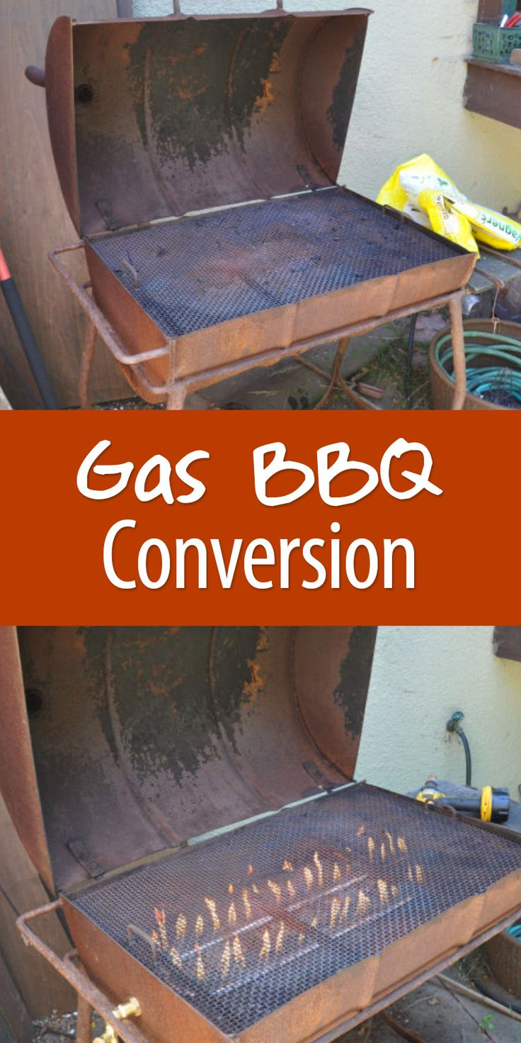 Convert your old charcoal BBQ into a gas grill!