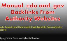 do perfect manual Edu Gov backlink building for SEO