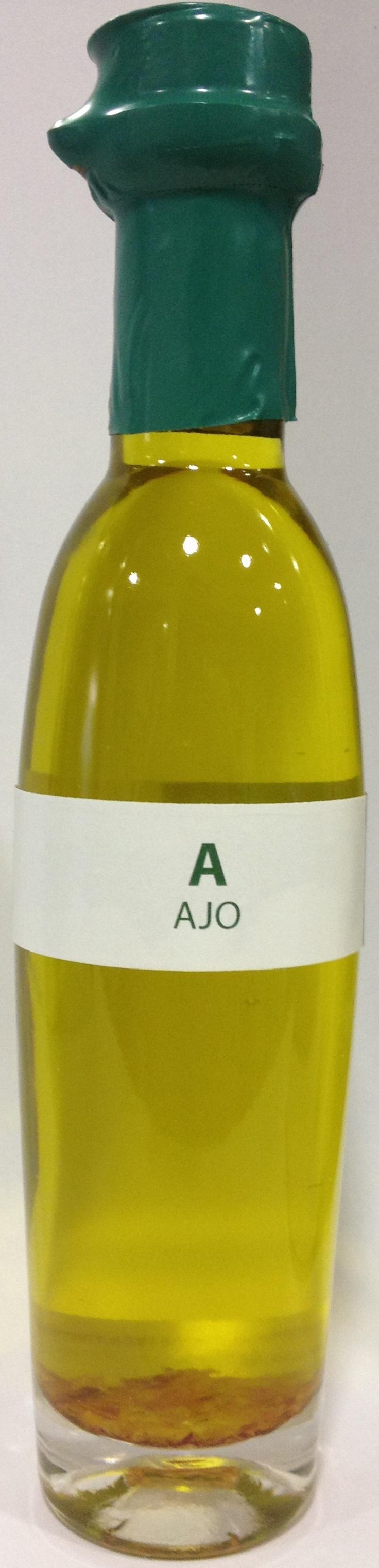 Aceite de oliva virgen extra ecostean con ajo.