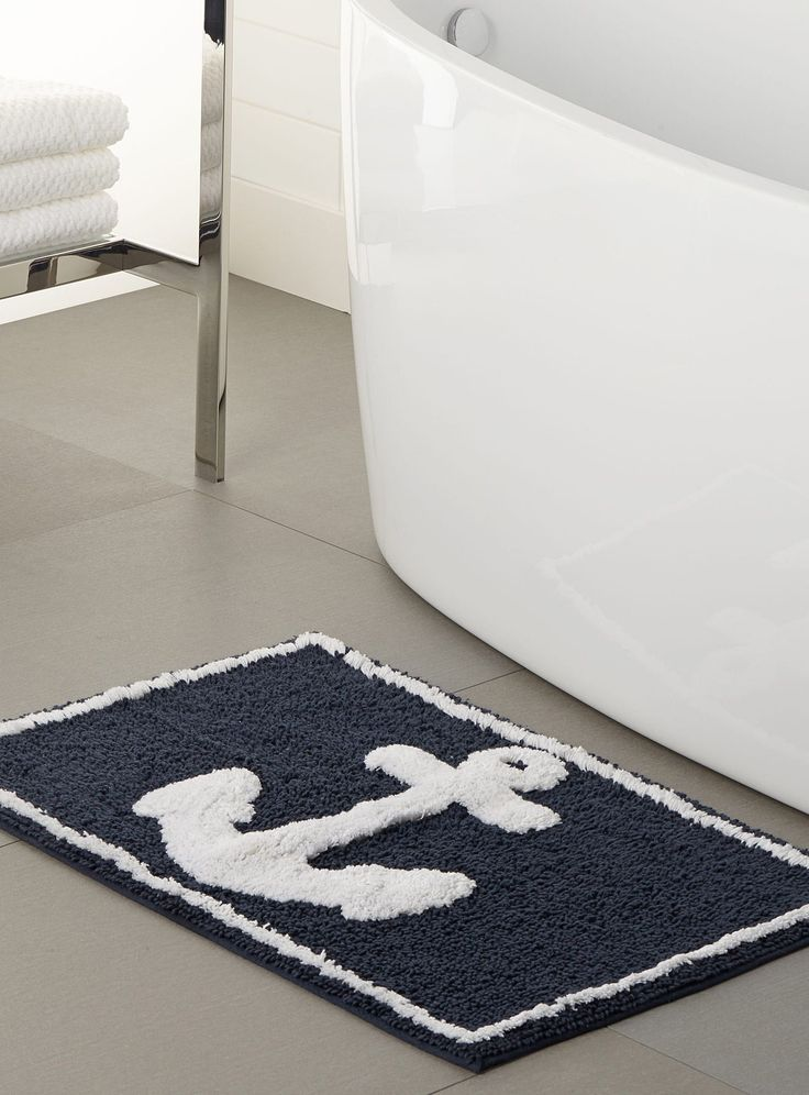 Best Navy Bathroom Decor Ideas On Pinterest Toilet Room - Sage bath rug for bathroom decorating ideas
