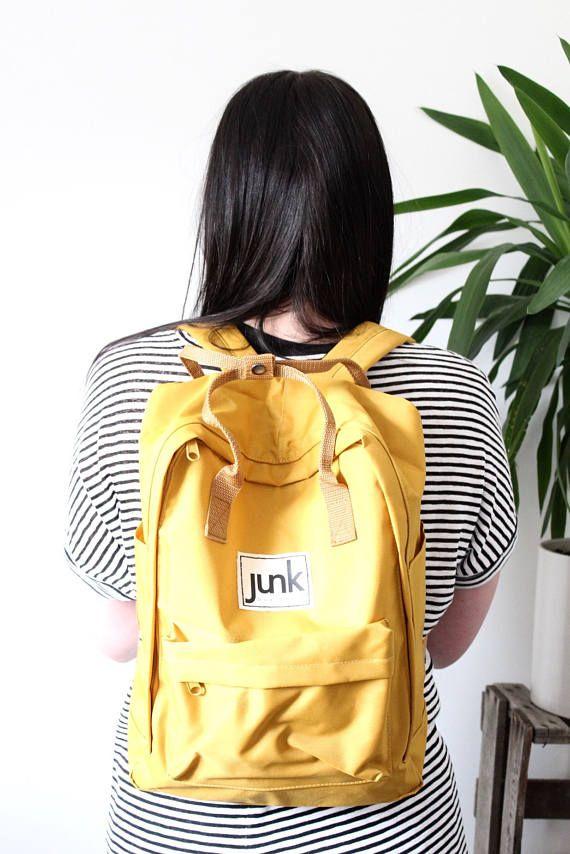 Junk Boardwear UNISEX urban rucksack in Mustard  backpack