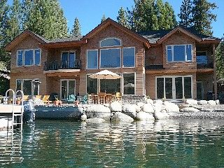 """I use the public doc next to this house every time I go and would love to rent it (just need 10 friends to afford it lol) """"Donner Lake House Rental: Donner Lake Luxury Lakefront Home - Private Pier/boat Dock   HomeAway"""""""
