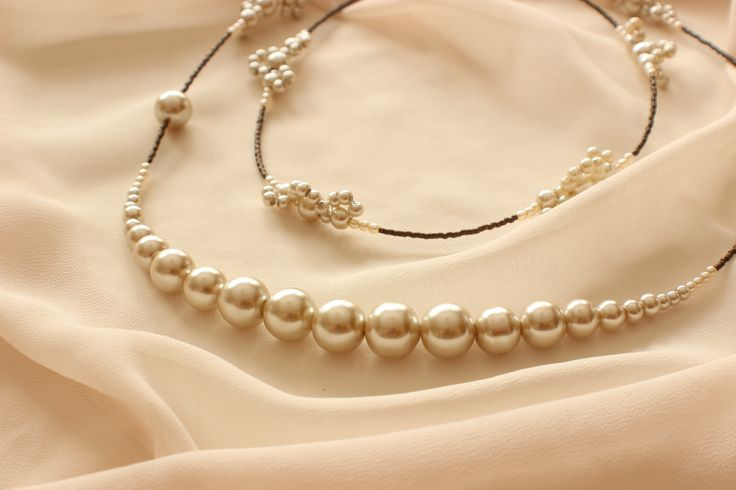 Long Lace Pearl Necklace - Bridal Jewelry, Wedding Jewelry, Bridesmaid Jewelry, Mother of the Bride Jewelry http://www.robingoodfellowdesigns.com/long-necklaces/long-lace-pearl-necklace-1