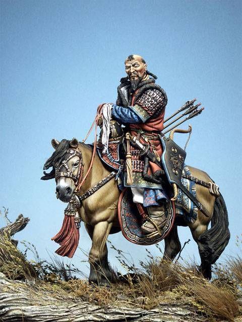 Caballo de guerra, época medieval, China