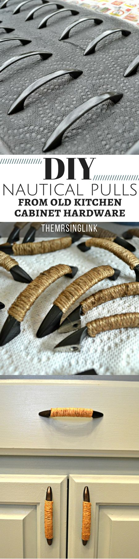 DIY Upgrade Old Kitchen Hardware Into Nautical Pulls | DIY Kitchen Hardware | Kitchen Cabinet Pulls | DIY Kitchen | DIY Home Improvements | theMRSingLink