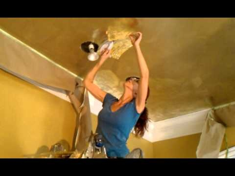 Part 4 of 4 - how to apply metallic foil to ceiling