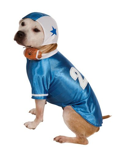 Pet Dog Football Player Sports Halloween Costume sz Lrg