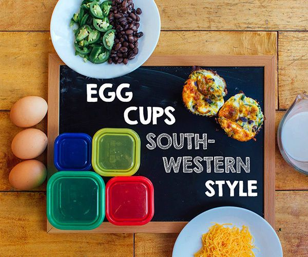 1 Green, 1/2 Yellow, 1/2 Red, 1/2 Blue  Southwestern Egg Cups 21-Day Fix-Approved Recipe