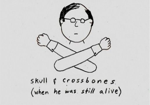 Demetri Martin-Skull and Crossbones (when he was still alive)