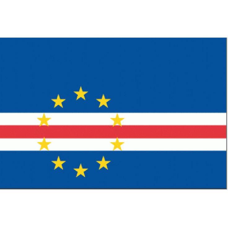 vlag Kaapverdie 100x150cm | vlaggen Kaap Verdië gastenvlag  Bestel de gastenlandvlag van de Kaapverdische eilanden en andere vlaggen en laat zien dat je een graag geziene gast bent!