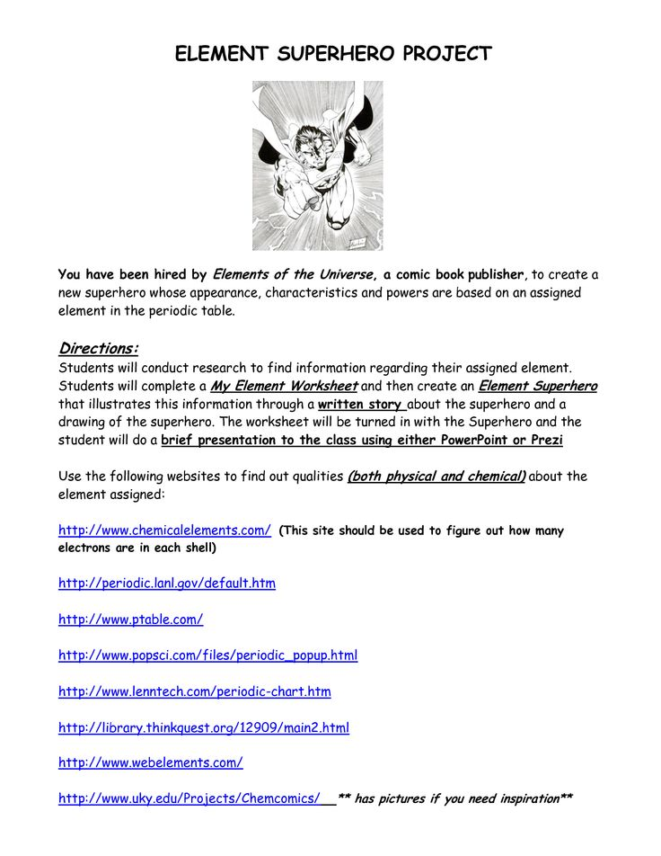 superhero science element worksheet superhero best free printable worksheets. Black Bedroom Furniture Sets. Home Design Ideas