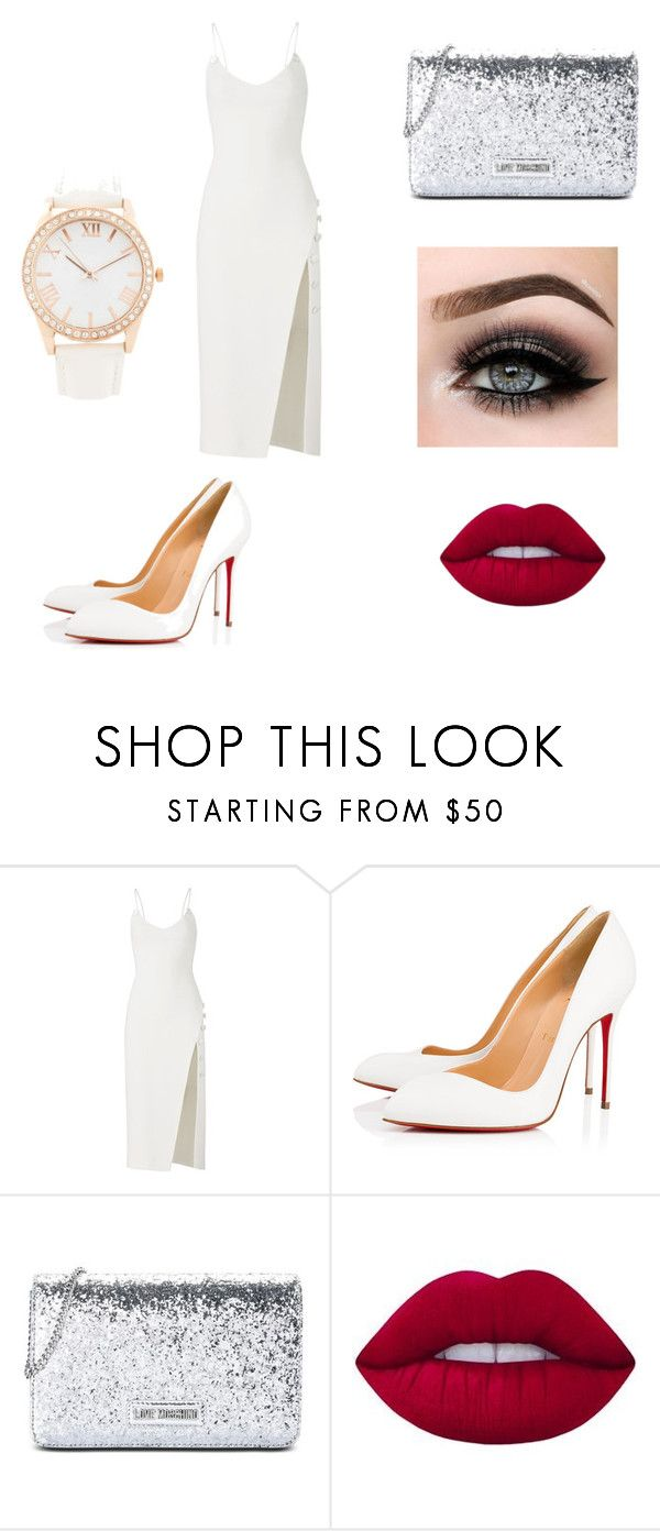 """Sem título #11"" by geiziemmanuelle on Polyvore featuring moda, David Koma, Christian Louboutin, Love Moschino, Lime Crime, ASAP e Forever 21"