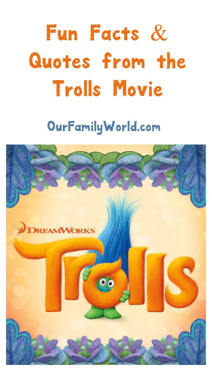 Looking for the coolest Trolls movie 2016 quotes & trivia? We have you covered! Check out everything you want to know about the latest of Dreamwork's best family movies to watch!