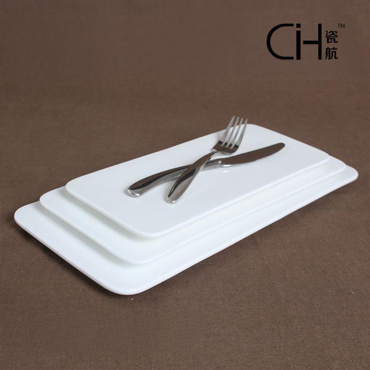 Porcelain derlook 16 white ceramic rectangular flat plate cake plate 12 sushi plate fashion plate 14 & 38 best HOTEL CERAMICS images on Pinterest | Fruit plate Dessert ...