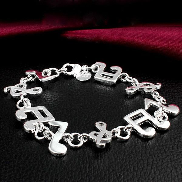 Music Note Bracelet 925 sterling silver – High Class Mall