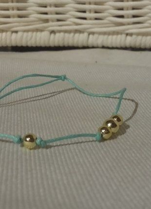 Kup mój przedmiot na #vintedpl http://www.vinted.pl/akcesoria/bizuteria/16793892-mietowa-zloty-bransoletka-typu-lilou
