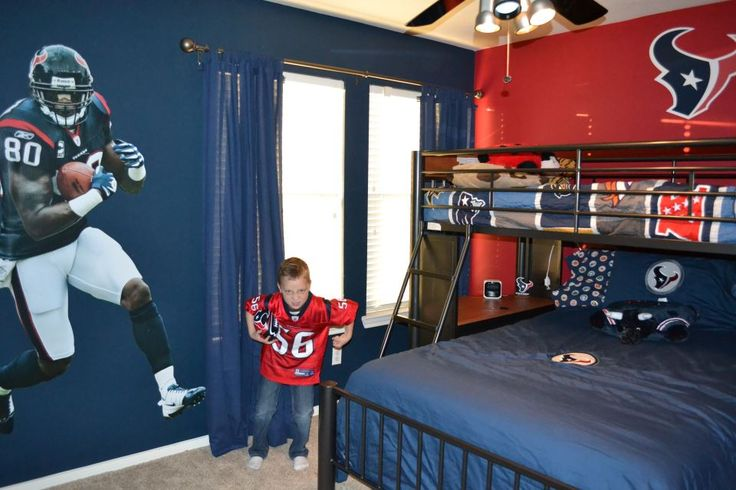 Houston texans bedroom houston texans room ideas for Colts bedroom ideas