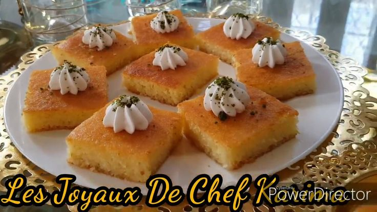 طريقة عمل البسبوسة Les Joyaux De Chef Karima Youtube Mini Cheesecake Food Desserts