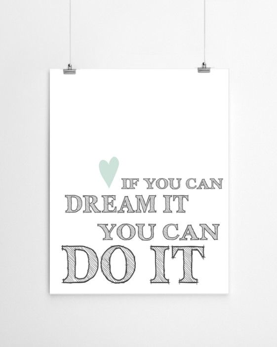 Dream it   print   PrintCandy