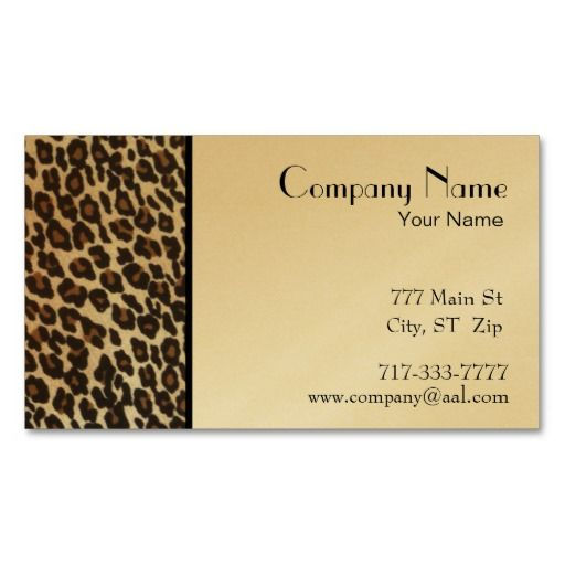 123 best its just business cards images on pinterest business gold leopard print border business card reheart Images